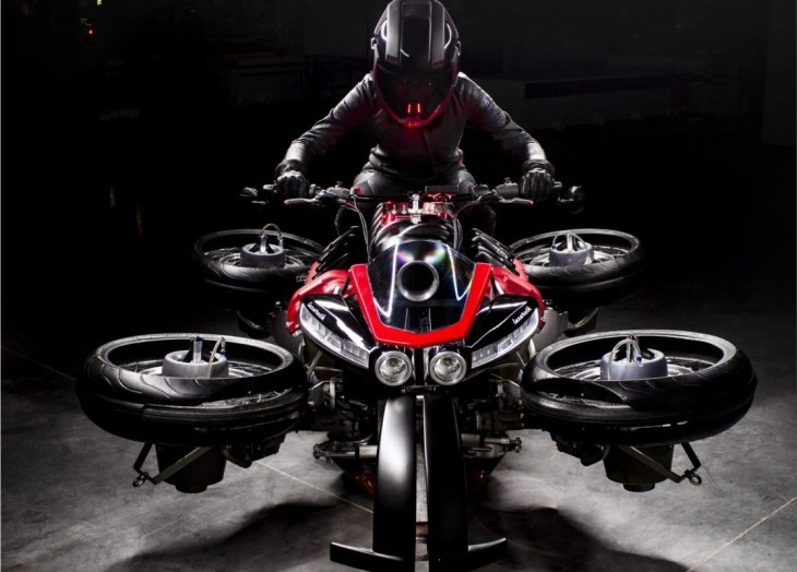 "Lazareth's flying motorcycle - ""La Moto Volante"""