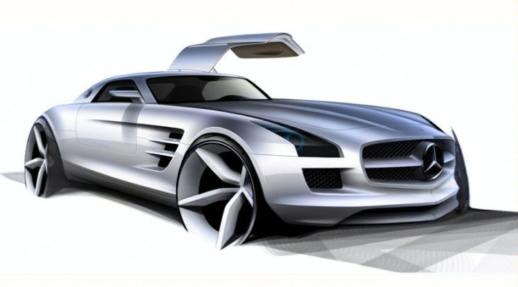 Mistery of the new Mercedes-Benz AMG Gullwing SLS
