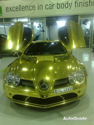 Gold Mercedes - Exotic Cars