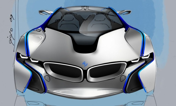 The BMW Vision EfficientDynamics concept car